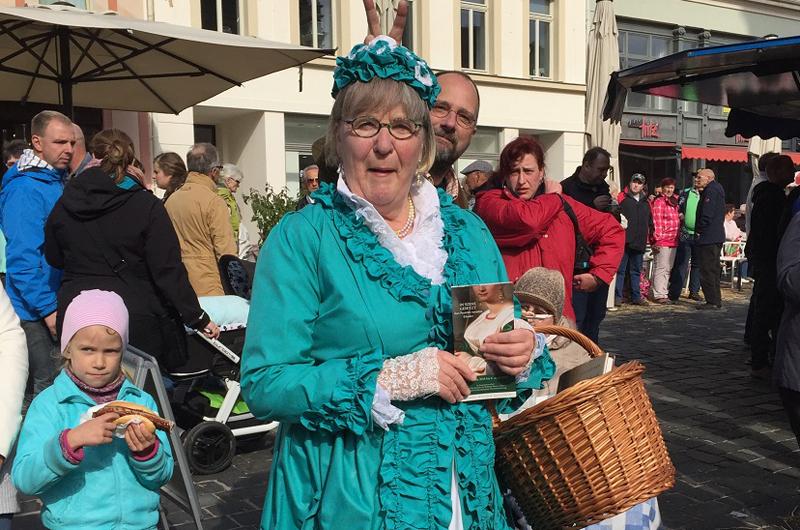Bauernmarkt mit Altenburger Originalen
