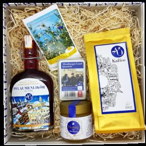 Unsere Altenburger Originale-Box beinhaltet eine gelungene Auswahl an regionalen Produkten aus dem Altenburger Land