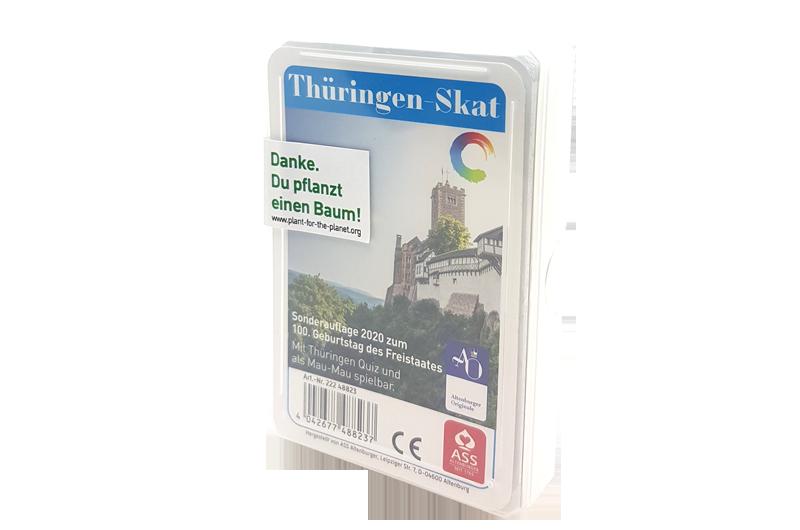 Thüringen-Skat mit deutschen Blatt, zum 100. Geburtstag des Freistaates