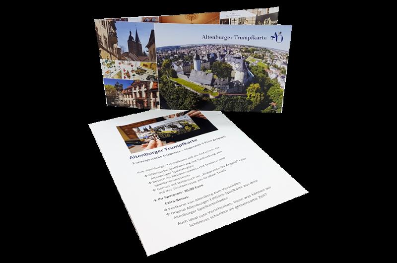Altenburger Trumpfkarte - Gutschein für 3 unvergessliche Erlebnisse und insgesamt 5 Euro gespart!