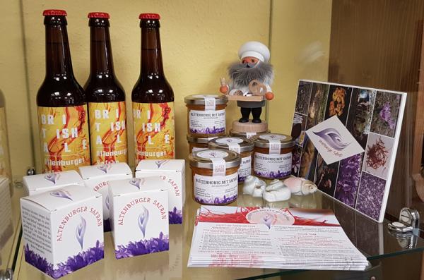 alle Safran-Produkte aus Altenburg auf einen Blick - das Gewürz der Glückseeligkeit