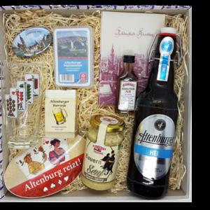 Mit der Altenburg-Fan-Box kann sich jeder Leckereien und regionale Produkte nach Hause holen.