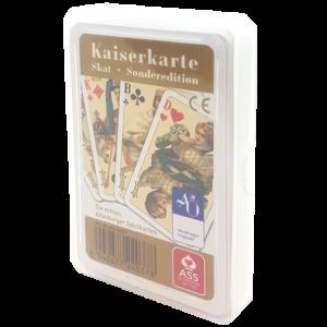 """Skat-Edition """"Kaiserkarte"""", mit aufwändigem 7-farbigen Druck, französisches Bild"""