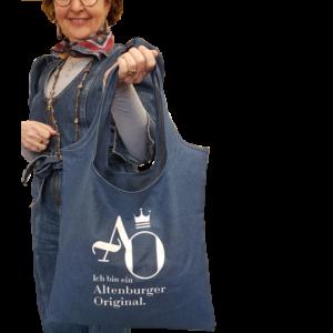 """Unser Altenburger-Originale-Beutel mit der Aufschrift: """"Ich bin ein AltenburgUnser Altenburger-Originale-Beutel mit der Aufschrift: """"Ich bin ein Altenburger Original"""".er Original""""."""