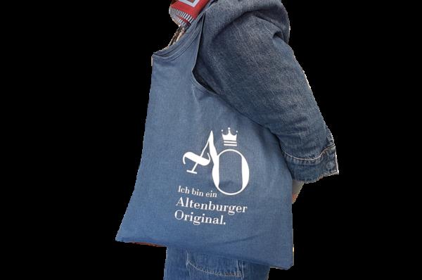 """Unser Altenburger-Originale-Beutel mit der Aufschrift: """"Ich bin ein Altenburger Original""""."""